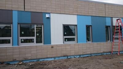 April 28, 2016 - Exterior cladding installation