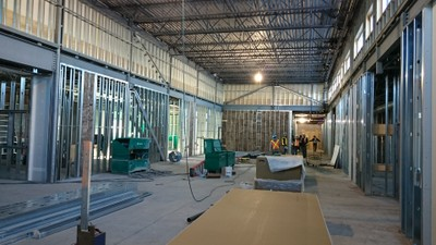 January 8, 2016 - Preparing for drywall installation