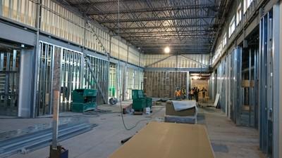 January 8, 2016 - Preparing for drywall installation