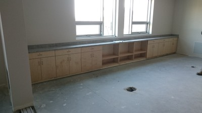 March 4, 2016 - Classroom mockup in place