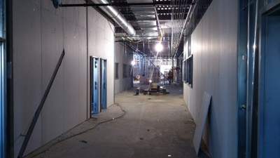 November 27, 2015 - Interior walls doors and windows being fitted