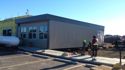 October 27, 2015 - Installation of portables classrooms