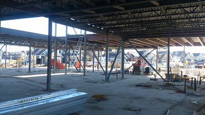 September 29, 2015 - Preparing to install steel studs